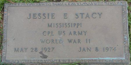 STACY, SR (VETERAN WWII), JESSIE E (NEW) - Alcorn County, Mississippi | JESSIE E (NEW) STACY, SR (VETERAN WWII) - Mississippi Gravestone Photos