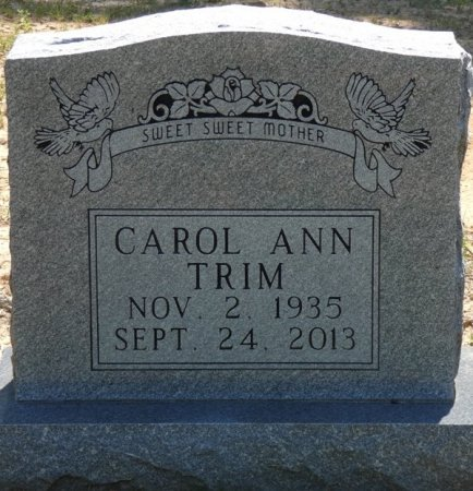 TRIM, CAROL ANN - Alcorn County, Mississippi   CAROL ANN TRIM - Mississippi Gravestone Photos