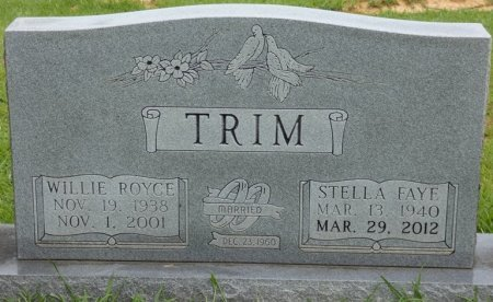 TRIM, WILLIE ROYCE - Alcorn County, Mississippi   WILLIE ROYCE TRIM - Mississippi Gravestone Photos
