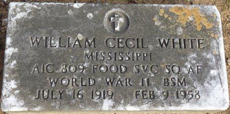 WHITE (VETERAN WWII), WILLIAM CECIL - Alcorn County, Mississippi | WILLIAM CECIL WHITE (VETERAN WWII) - Mississippi Gravestone Photos