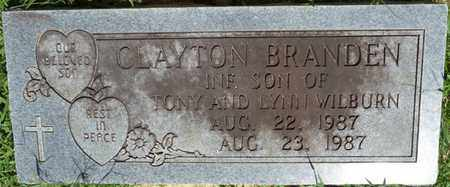 WILBURN, CLAYTON BRANDEN - Alcorn County, Mississippi | CLAYTON BRANDEN WILBURN - Mississippi Gravestone Photos