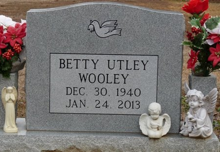 UTLEY WOOLEY, BETTY - Alcorn County, Mississippi | BETTY UTLEY WOOLEY - Mississippi Gravestone Photos