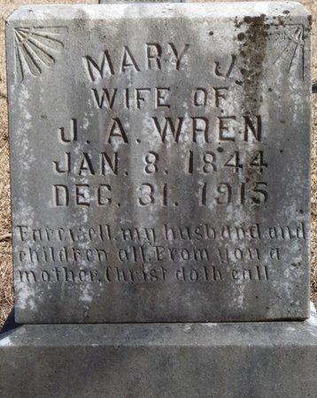 WREN, MARY JANE - Alcorn County, Mississippi | MARY JANE WREN - Mississippi Gravestone Photos