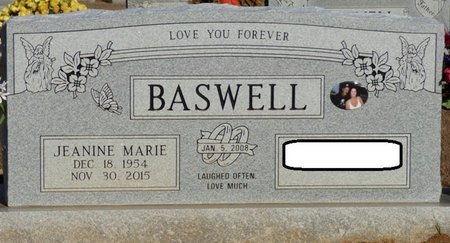 BASWELL, JEANINE MARIE - Alcorn County, Mississippi | JEANINE MARIE BASWELL - Mississippi Gravestone Photos