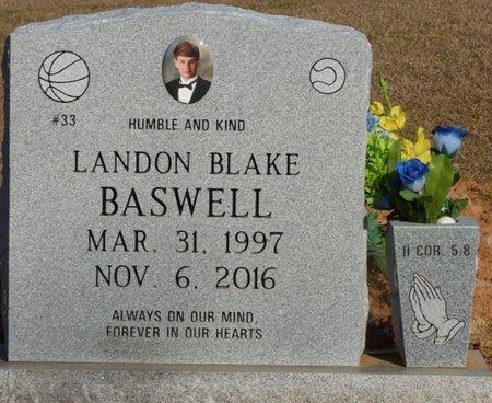 BASWELL, LANDON BLAKE - Alcorn County, Mississippi   LANDON BLAKE BASWELL - Mississippi Gravestone Photos