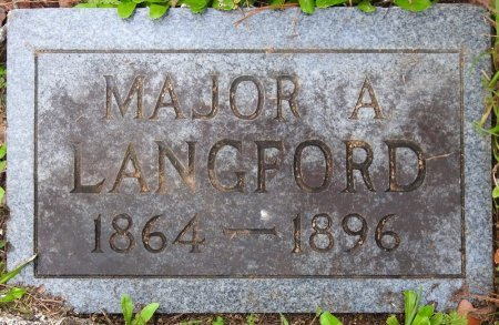 LANGFORD, MAJOR ALEXANDER - Clay County, Mississippi   MAJOR ALEXANDER LANGFORD - Mississippi Gravestone Photos