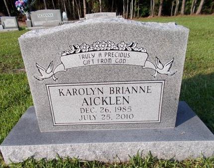 AICKLEN, KAROLYN BRIANNE - Hancock County, Mississippi | KAROLYN BRIANNE AICKLEN - Mississippi Gravestone Photos