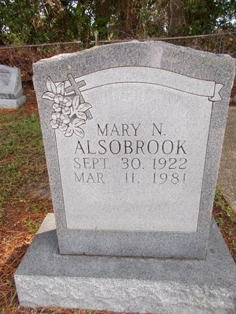 ALSOBROOK, MARY N - Hancock County, Mississippi | MARY N ALSOBROOK - Mississippi Gravestone Photos