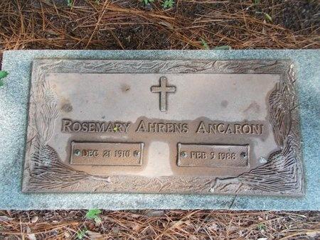 AHRENS ANCARONI, ROSEMARY - Hancock County, Mississippi | ROSEMARY AHRENS ANCARONI - Mississippi Gravestone Photos
