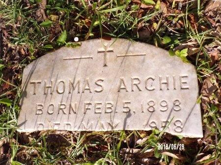 ARCHIE, THOMAS - Hancock County, Mississippi | THOMAS ARCHIE - Mississippi Gravestone Photos