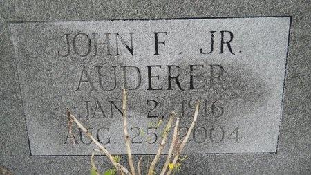 AUDERER, JOHN F, JR - Hancock County, Mississippi | JOHN F, JR AUDERER - Mississippi Gravestone Photos