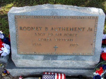 AUTHEMENT (VETERAN 2 WARS), RODNEY B., JR (NEW) - Hancock County, Mississippi   RODNEY B., JR (NEW) AUTHEMENT (VETERAN 2 WARS) - Mississippi Gravestone Photos
