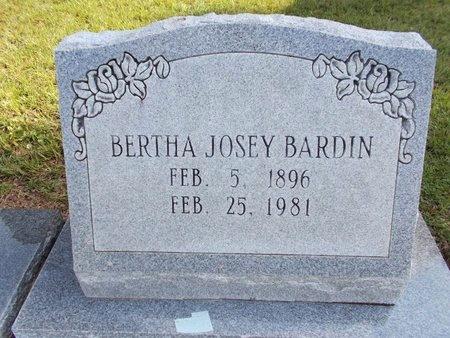 BARDIN, BERTHA JOSEY - Hancock County, Mississippi   BERTHA JOSEY BARDIN - Mississippi Gravestone Photos
