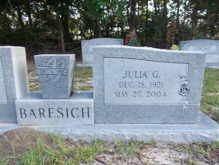 BARESICH, JULIA G - Hancock County, Mississippi | JULIA G BARESICH - Mississippi Gravestone Photos