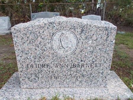 BARNETT, DEIDRE ANN - Hancock County, Mississippi | DEIDRE ANN BARNETT - Mississippi Gravestone Photos