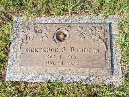 BAUDOIN, GERTRUDE S - Hancock County, Mississippi | GERTRUDE S BAUDOIN - Mississippi Gravestone Photos