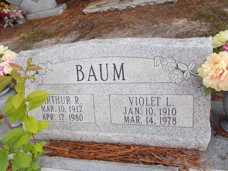 BAUM, VIOLET L - Hancock County, Mississippi | VIOLET L BAUM - Mississippi Gravestone Photos