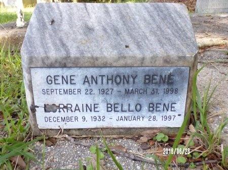 BENE, GENE ANTHONY - Hancock County, Mississippi | GENE ANTHONY BENE - Mississippi Gravestone Photos