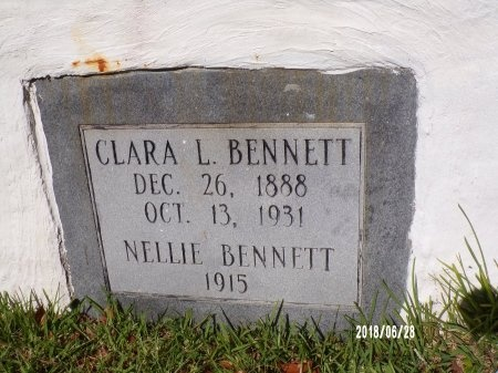 BENNETT, CLARA L (CLOSE UP) - Hancock County, Mississippi | CLARA L (CLOSE UP) BENNETT - Mississippi Gravestone Photos