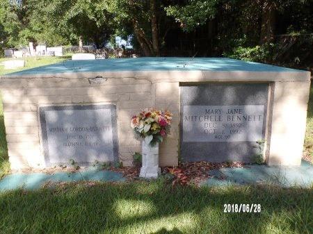 MITCHELL BENNETT, MARY JANE - Hancock County, Mississippi | MARY JANE MITCHELL BENNETT - Mississippi Gravestone Photos