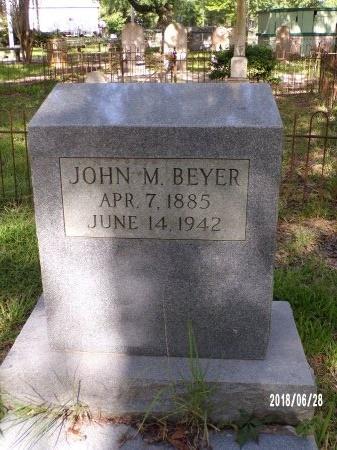 BEYER, JOHN M - Hancock County, Mississippi   JOHN M BEYER - Mississippi Gravestone Photos