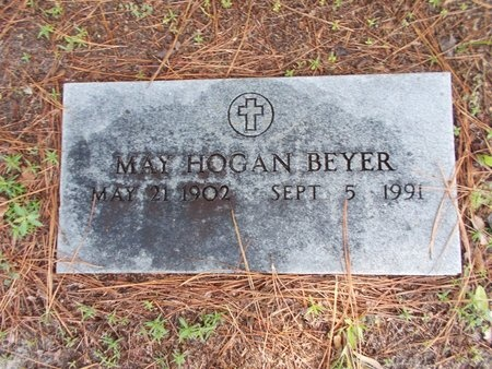 BEYER, MAY - Hancock County, Mississippi | MAY BEYER - Mississippi Gravestone Photos