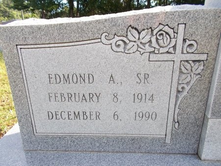 BLAIZE, EDMOND A., SR (CLOSE UP) - Hancock County, Mississippi   EDMOND A., SR (CLOSE UP) BLAIZE - Mississippi Gravestone Photos
