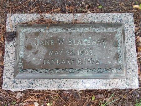 BLAKEWAY, JANE W - Hancock County, Mississippi | JANE W BLAKEWAY - Mississippi Gravestone Photos