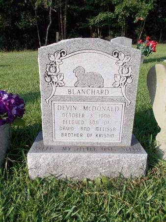 BLANCHARD, DEVIN MCDONALD - Hancock County, Mississippi   DEVIN MCDONALD BLANCHARD - Mississippi Gravestone Photos