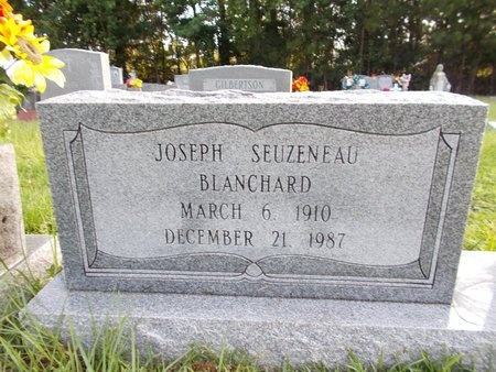 BLANCHARD, JOSEPH SEUZENEAU - Hancock County, Mississippi   JOSEPH SEUZENEAU BLANCHARD - Mississippi Gravestone Photos