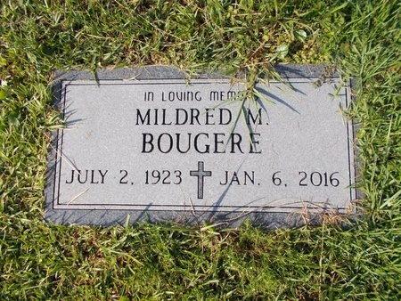 BOUGERE, MILDRED - Hancock County, Mississippi | MILDRED BOUGERE - Mississippi Gravestone Photos