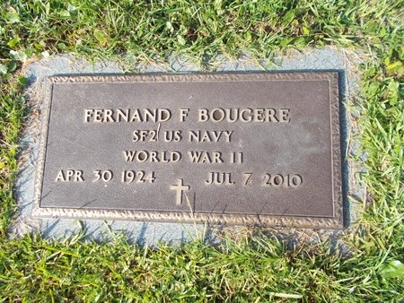 BOUGERE (VETERAN WWII), FERNAND F (NEW) - Hancock County, Mississippi | FERNAND F (NEW) BOUGERE (VETERAN WWII) - Mississippi Gravestone Photos