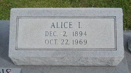 BOURGEOIS, ALICE I (CLOSEUP) - Hancock County, Mississippi | ALICE I (CLOSEUP) BOURGEOIS - Mississippi Gravestone Photos