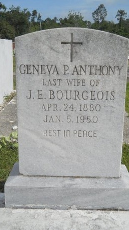 BOURGEOIS, GENEVA P - Hancock County, Mississippi   GENEVA P BOURGEOIS - Mississippi Gravestone Photos