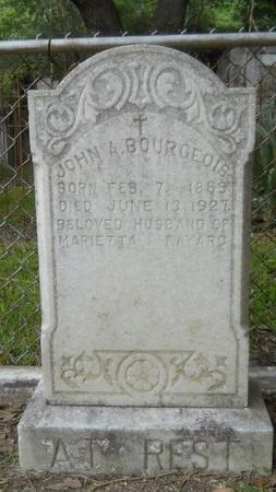 BOURGEOIS, JOHN A - Hancock County, Mississippi | JOHN A BOURGEOIS - Mississippi Gravestone Photos