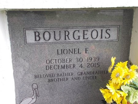 BOURGEOIS, LIONEL F - Hancock County, Mississippi | LIONEL F BOURGEOIS - Mississippi Gravestone Photos