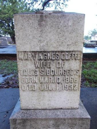 BOURGEOIS, MARY AGNES - Hancock County, Mississippi | MARY AGNES BOURGEOIS - Mississippi Gravestone Photos