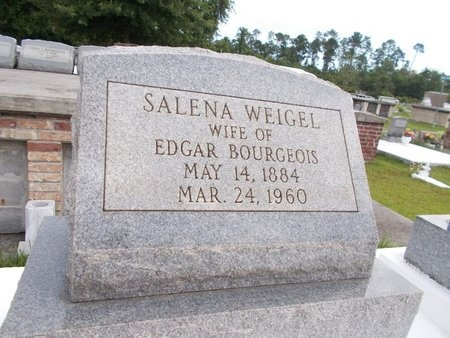 BOURGEOIS, SALENA - Hancock County, Mississippi | SALENA BOURGEOIS - Mississippi Gravestone Photos