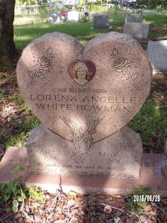 WHITE BOWMAN, LORENA ANGELLE - Hancock County, Mississippi | LORENA ANGELLE WHITE BOWMAN - Mississippi Gravestone Photos