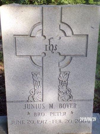BOYER, BRO, JUNIUS M - Hancock County, Mississippi | JUNIUS M BOYER, BRO - Mississippi Gravestone Photos