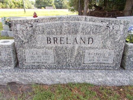"BRELAND, E E ""ED"" - Hancock County, Mississippi | E E ""ED"" BRELAND - Mississippi Gravestone Photos"
