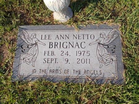 BRIGNAC, LEE ANN - Hancock County, Mississippi | LEE ANN BRIGNAC - Mississippi Gravestone Photos
