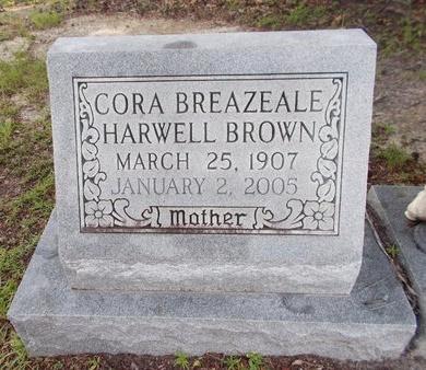 BROWN, CORA - Hancock County, Mississippi | CORA BROWN - Mississippi Gravestone Photos