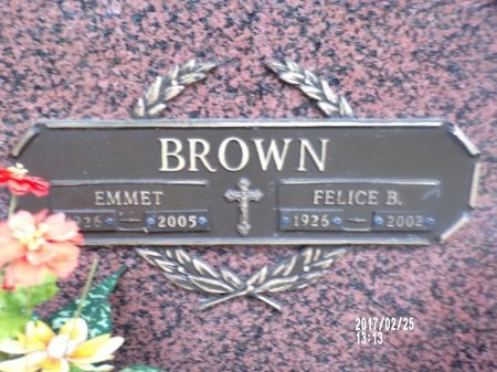 BROWN, FELICE ROSE - Hancock County, Mississippi | FELICE ROSE BROWN - Mississippi Gravestone Photos