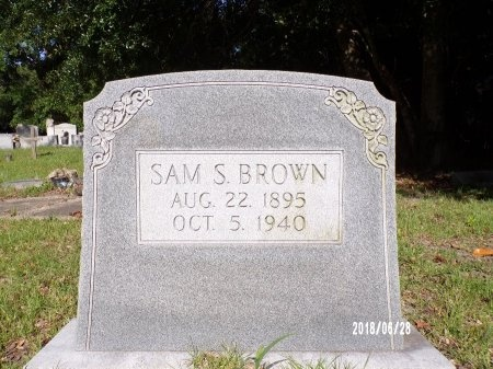BROWN, SAM S - Hancock County, Mississippi | SAM S BROWN - Mississippi Gravestone Photos