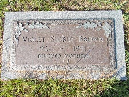 BROWN, VIOLET SIGRID - Hancock County, Mississippi   VIOLET SIGRID BROWN - Mississippi Gravestone Photos