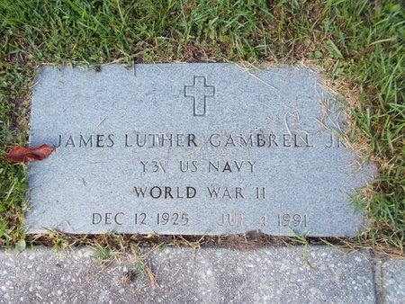 GAMBRELL (NEW), JAMES LUTHER, JR (VETERAN WWII) - Hancock County, Mississippi | JAMES LUTHER, JR (VETERAN WWII) GAMBRELL (NEW) - Mississippi Gravestone Photos