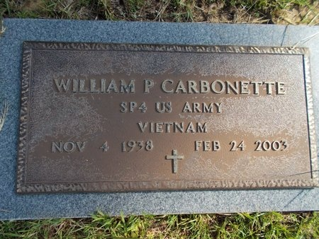 CARBONETTE (VETERAN VIET), WILLIAM P (NEW) - Hancock County, Mississippi | WILLIAM P (NEW) CARBONETTE (VETERAN VIET) - Mississippi Gravestone Photos