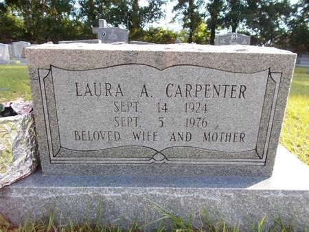 CARPENTER, LAURA A - Hancock County, Mississippi   LAURA A CARPENTER - Mississippi Gravestone Photos