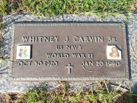 CARVIN (VETERAN WWII), WHITNEY J., SR (NEW) - Hancock County, Mississippi | WHITNEY J., SR (NEW) CARVIN (VETERAN WWII) - Mississippi Gravestone Photos